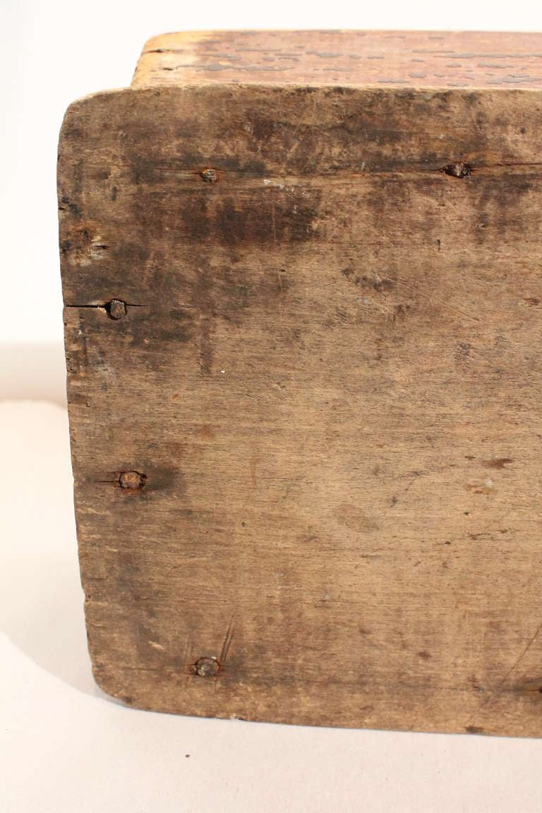 19th Century Distressed Primitive Painted Pine Tote At 1stdibs
