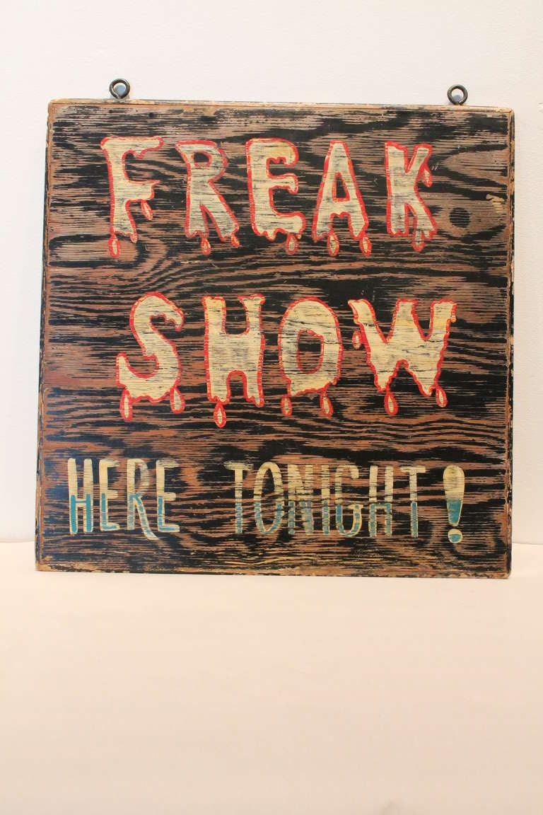 Mid Century Carnival Quot Freak Show Quot Advertising Sign At