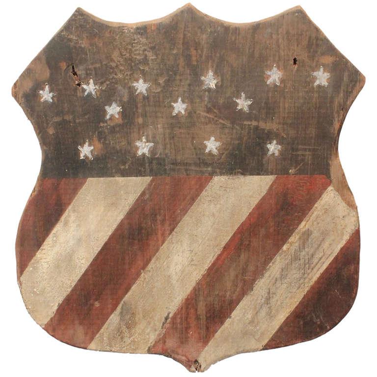 1876 Centennial 13 Star American Shield At 1stdibs