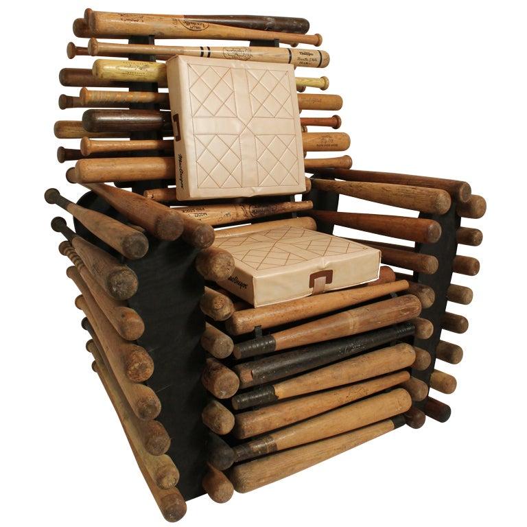Baseball Bat Chair At 1stdibs