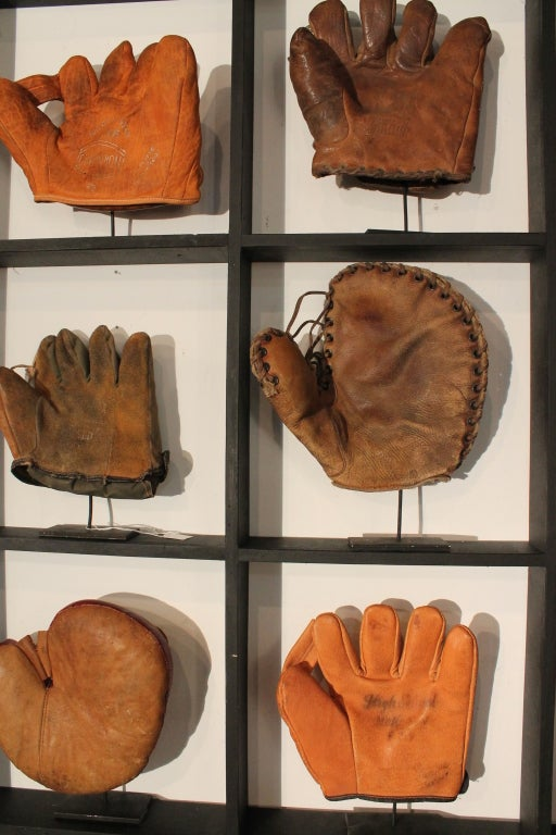 9 Baseball Glove Display At 1stdibs