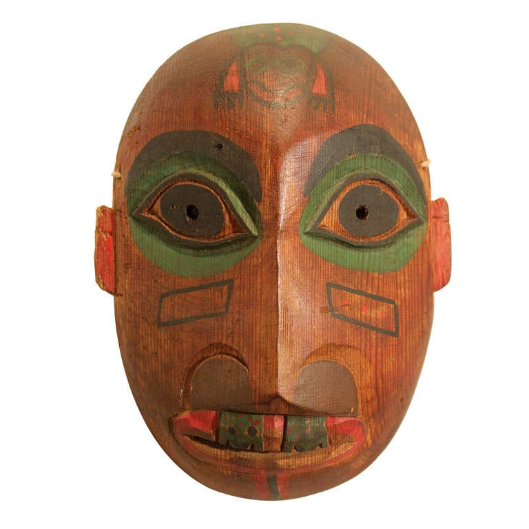 Ceremonial Northwest American Indian Mask At 1stdibs