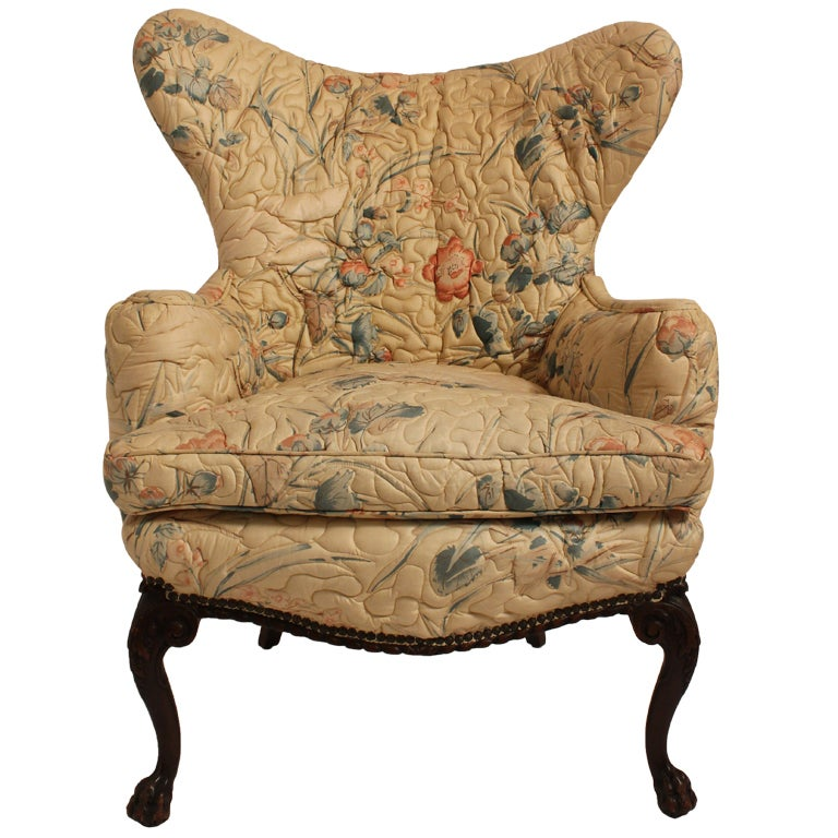 English Wingback Chair At 1stdibs