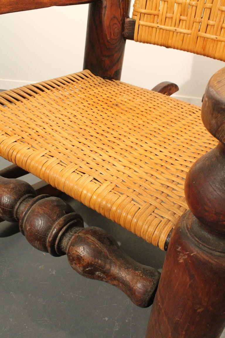 Exuberant Folk Art Rocking Chair at 1stdibs