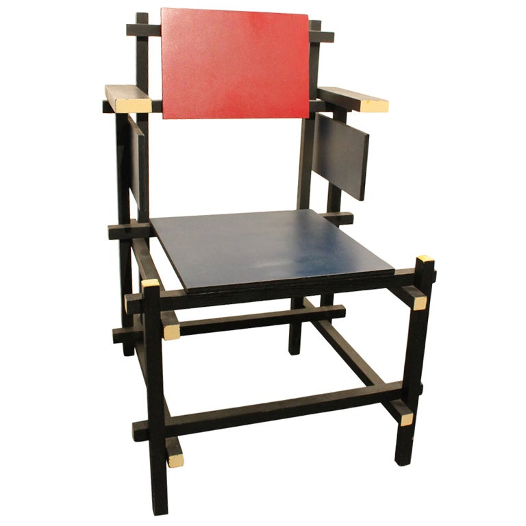 Modernist Side Chair in the Style of Gerrit Rietveld