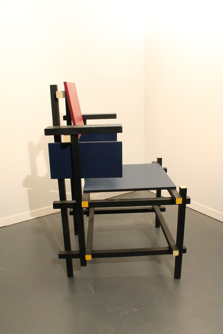 Modernist Side Chair in the Style of Gerrit Rietveld image 2
