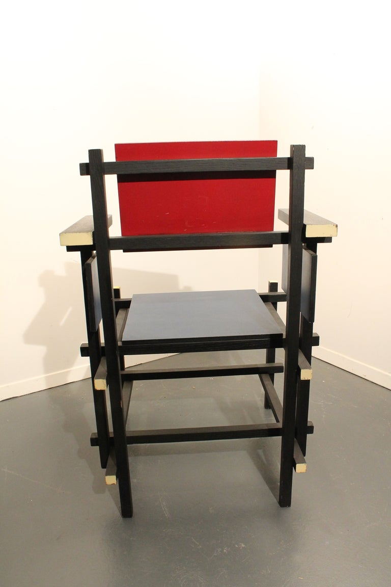 Modernist Side Chair in the Style of Gerrit Rietveld image 3