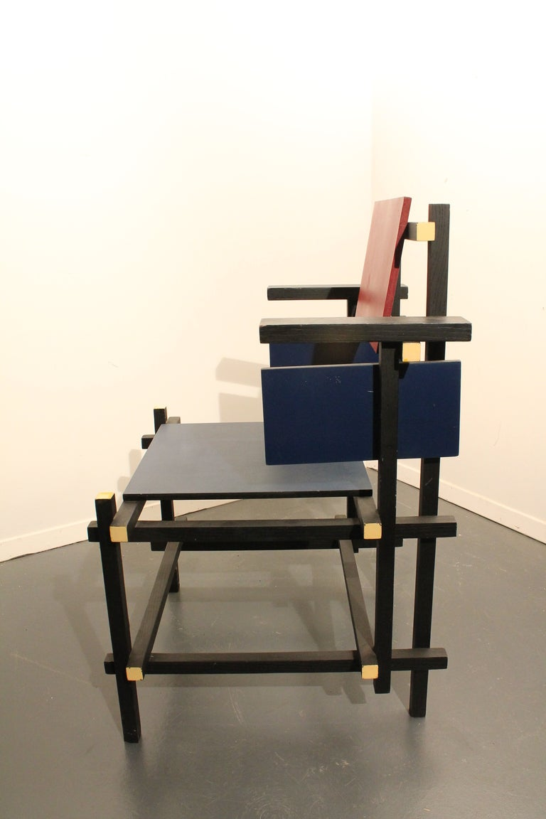 Modernist Side Chair in the Style of Gerrit Rietveld image 4
