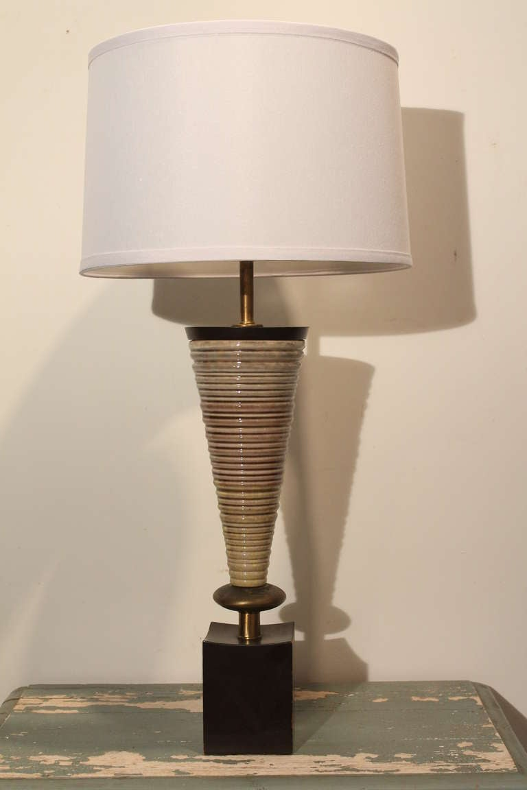 Mid Century Modern Rembrandt Ceramic Table Lamp For Sale