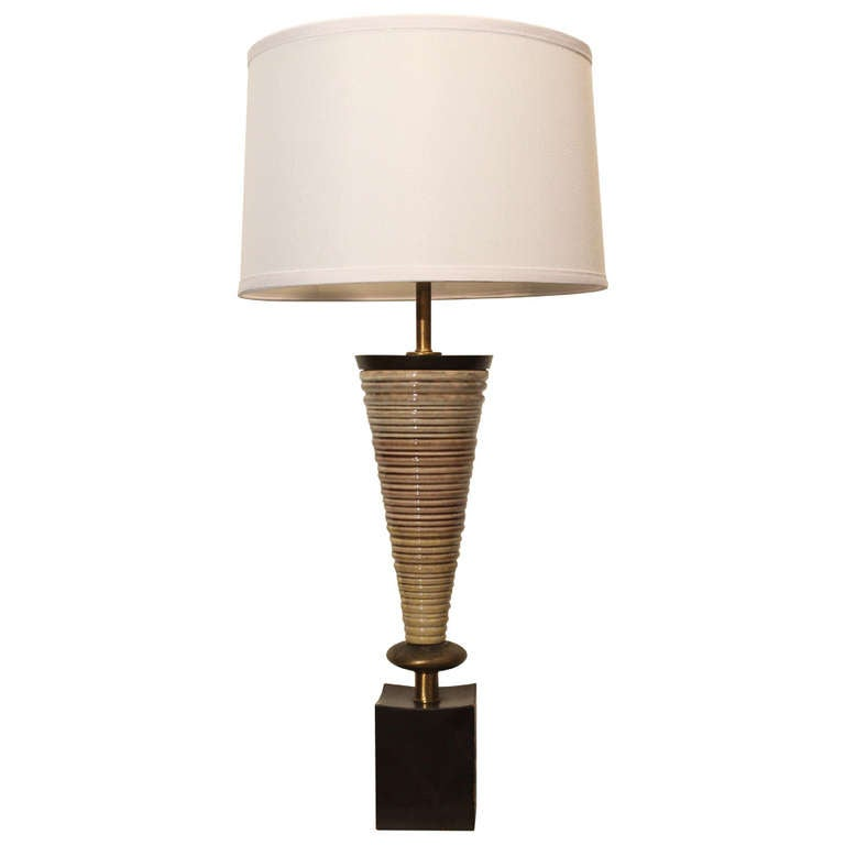 Mid Century Rembrandt Lamp: Mid-Century Modern Rembrandt Ceramic Table Lamp At 1stdibs