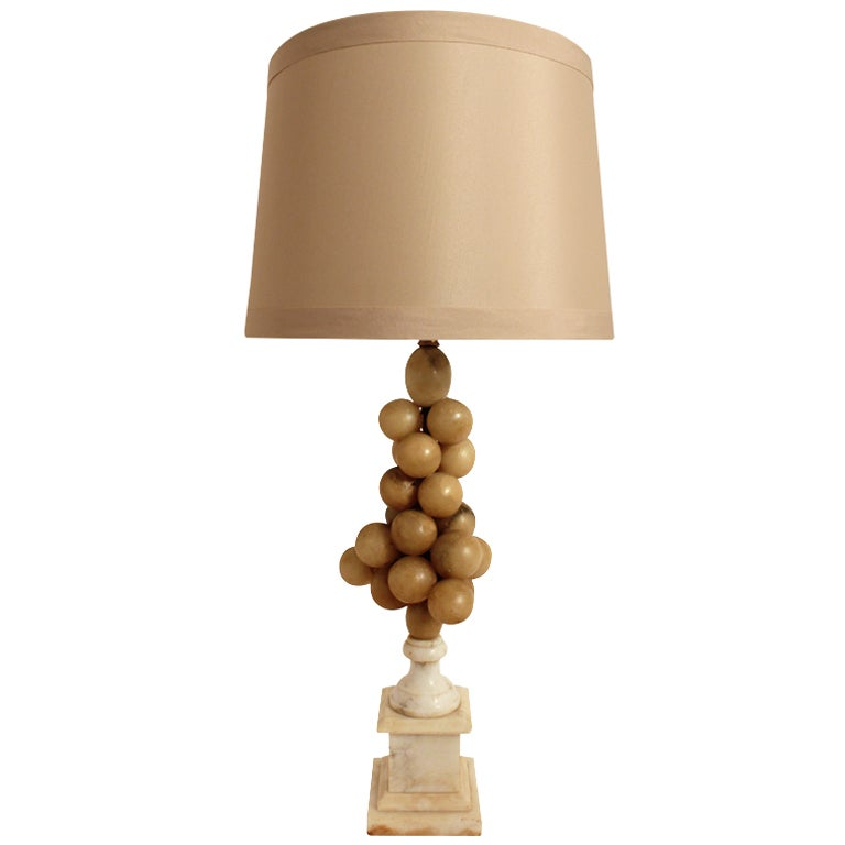 19th Century Marble Grape Design Lamp For Sale At 1stdibs