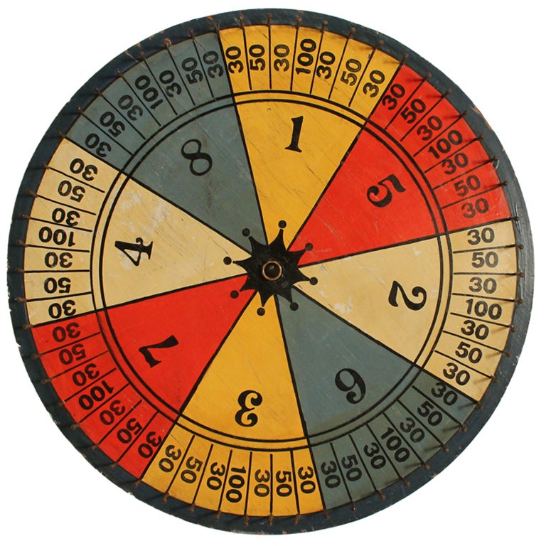 Colorful Carnival Gameboard Wheel At 1stdibs
