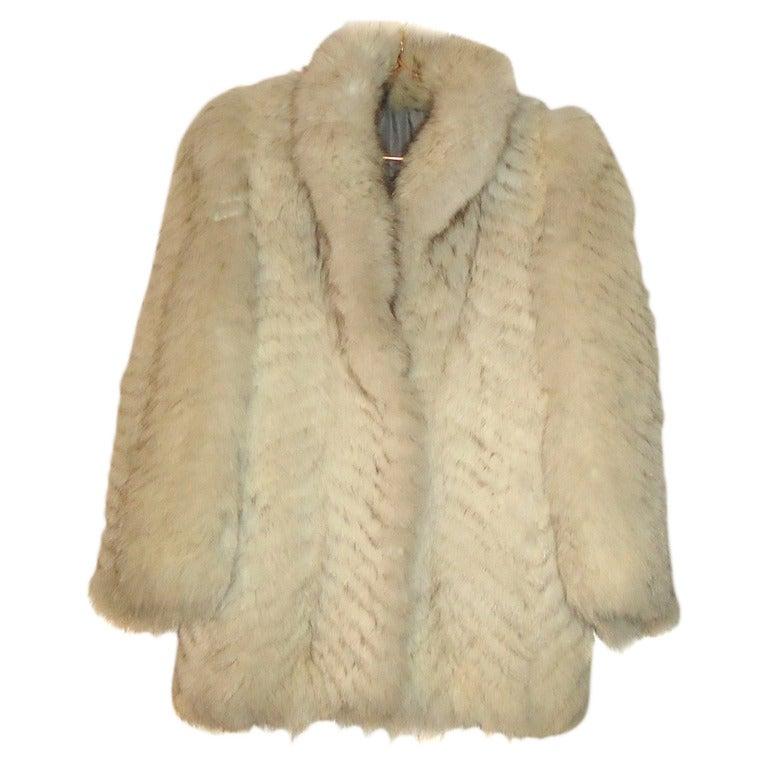 Greece Polar Fox Fur Jacket M Like New Sale At 1stdibs