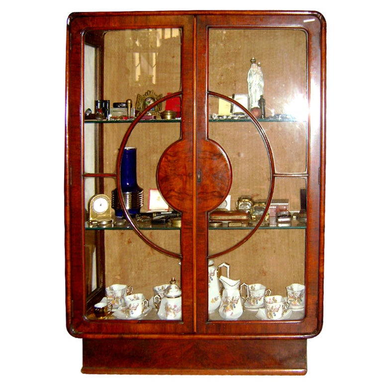lovely art deco 1930s vitrine at 1stdibs. Black Bedroom Furniture Sets. Home Design Ideas