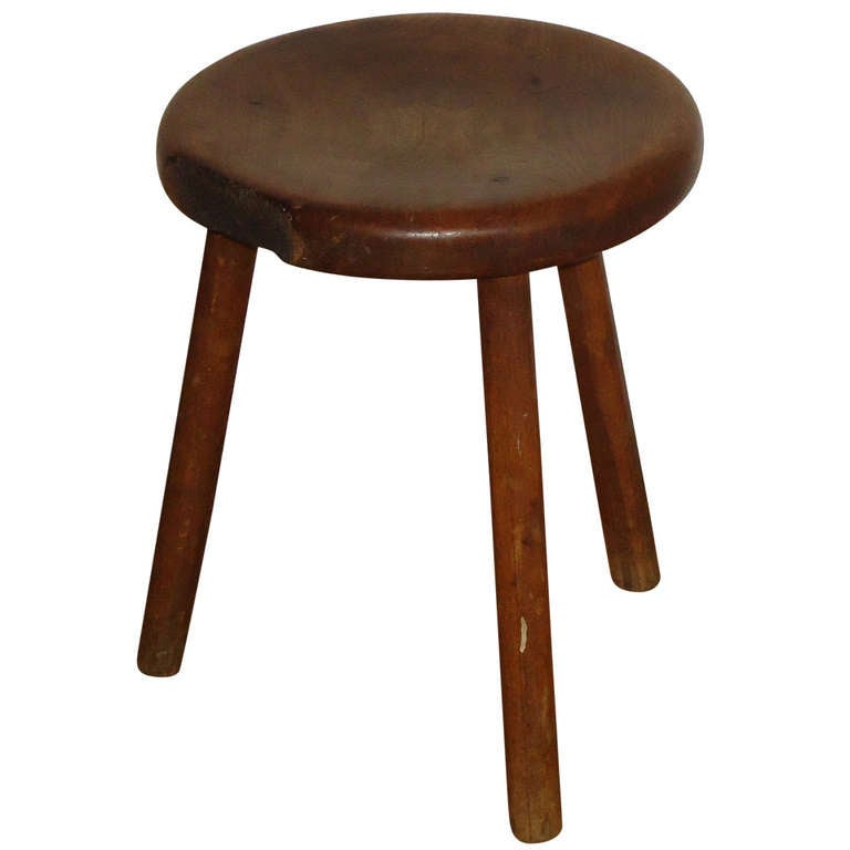 European Antique Tripod Rustic Milking Stool At 1stdibs