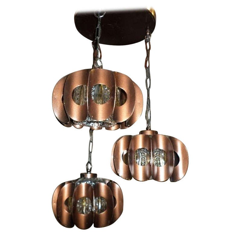mid century modern brass three tier pendant chandelier at 1stdibs