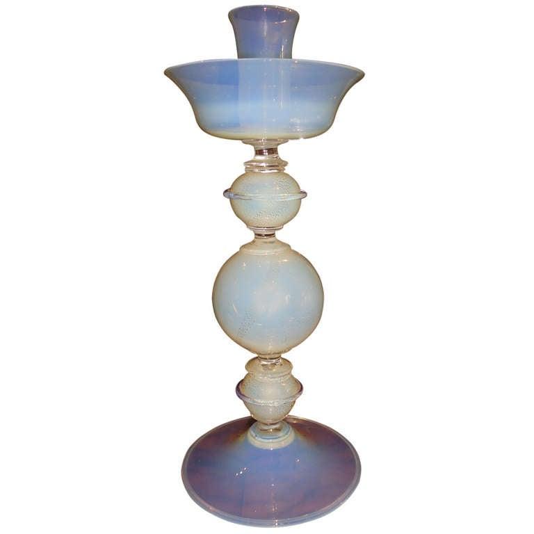 Italian Murano Opaline Glass Mid Century Modern