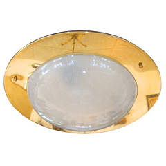 Spectacular Italian Flush Mount Ceiling Light