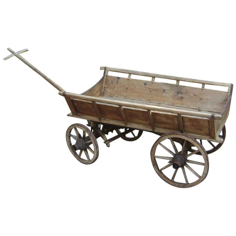 Small 19 Th C European Antique Farm Cart At 1stdibs