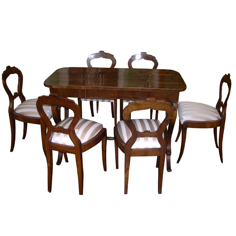 Exceptional complete austrian biedermeier dining set 1843 for Complete dining room sets
