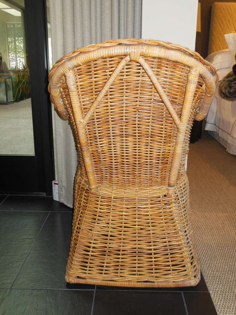 Michael Taylor Wicker Arm Chair For Sale At 1stdibs