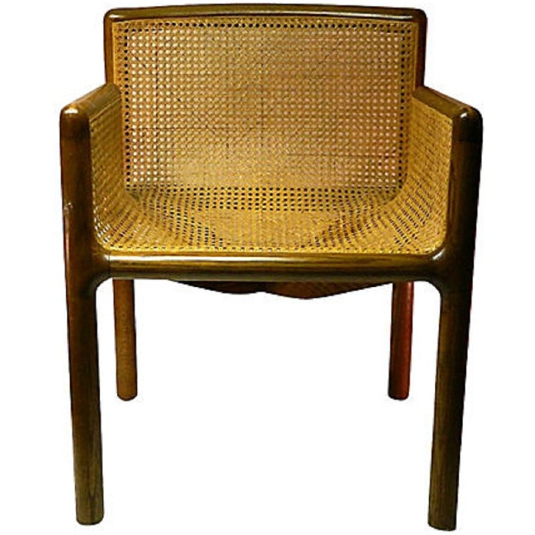 Mid Century Cane Chair At 1stdibs