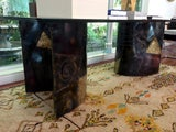 Dining table with welded steel base Paul Evans image 5