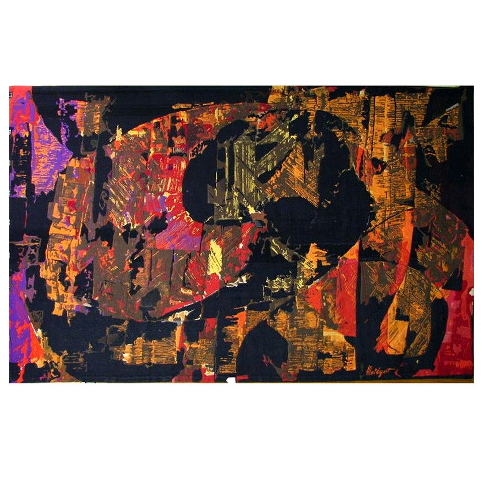A Large Modernist Abstract Tapestry by Mathieu Mategot