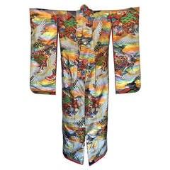 Vintage Japanese Silk Ceremonial Kimono