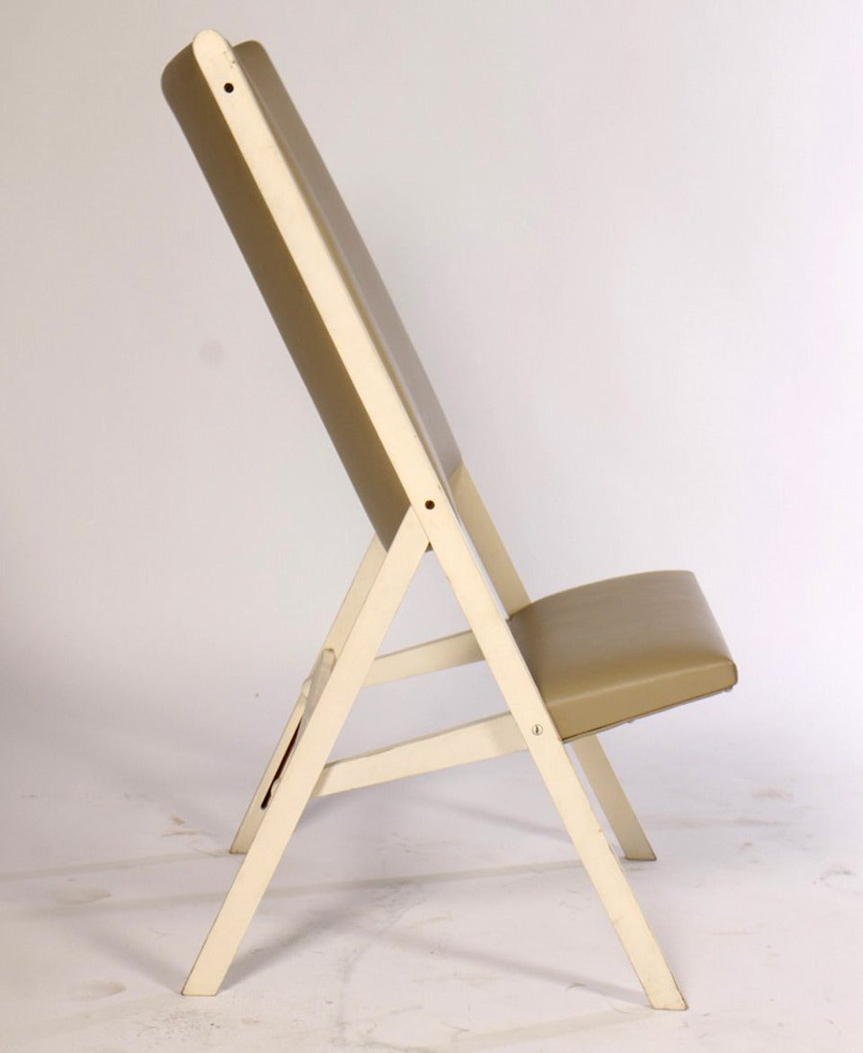 Modern Pair of Gabriella Folding Chairs by Gio Ponti For Sale