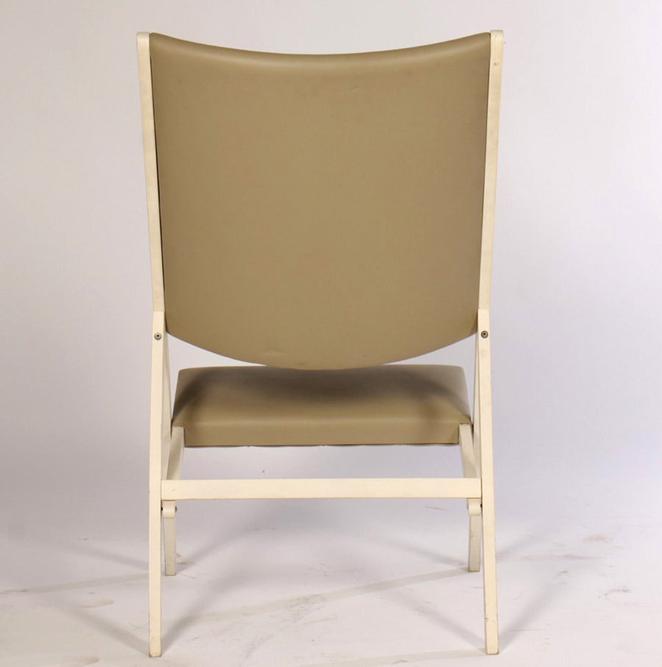 Pair of Gabriella Folding Chairs by Gio Ponti In Good Condition For Sale In North Miami, FL