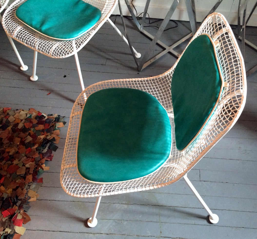 Sculptura Metal Mesh Table And Six Side Chairs Russell