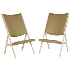 Pair of Gabriella Folding Chairs Model D.270.2 by Gio Ponti