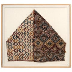 Framed Antique Woven Anatolian Storage Bag