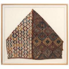 Framed Antique Woven Anatolian Storage Bag