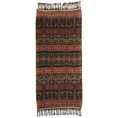 Large framed Antique Indonesia Ceremonial Ikat Hinggi from Sumba
