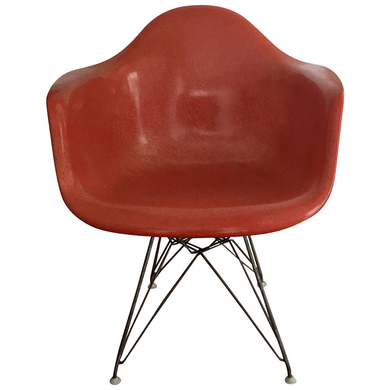 Awesome Early Fiberglass Shell DAR Chair By Charles Eames For Herman Miller 1
