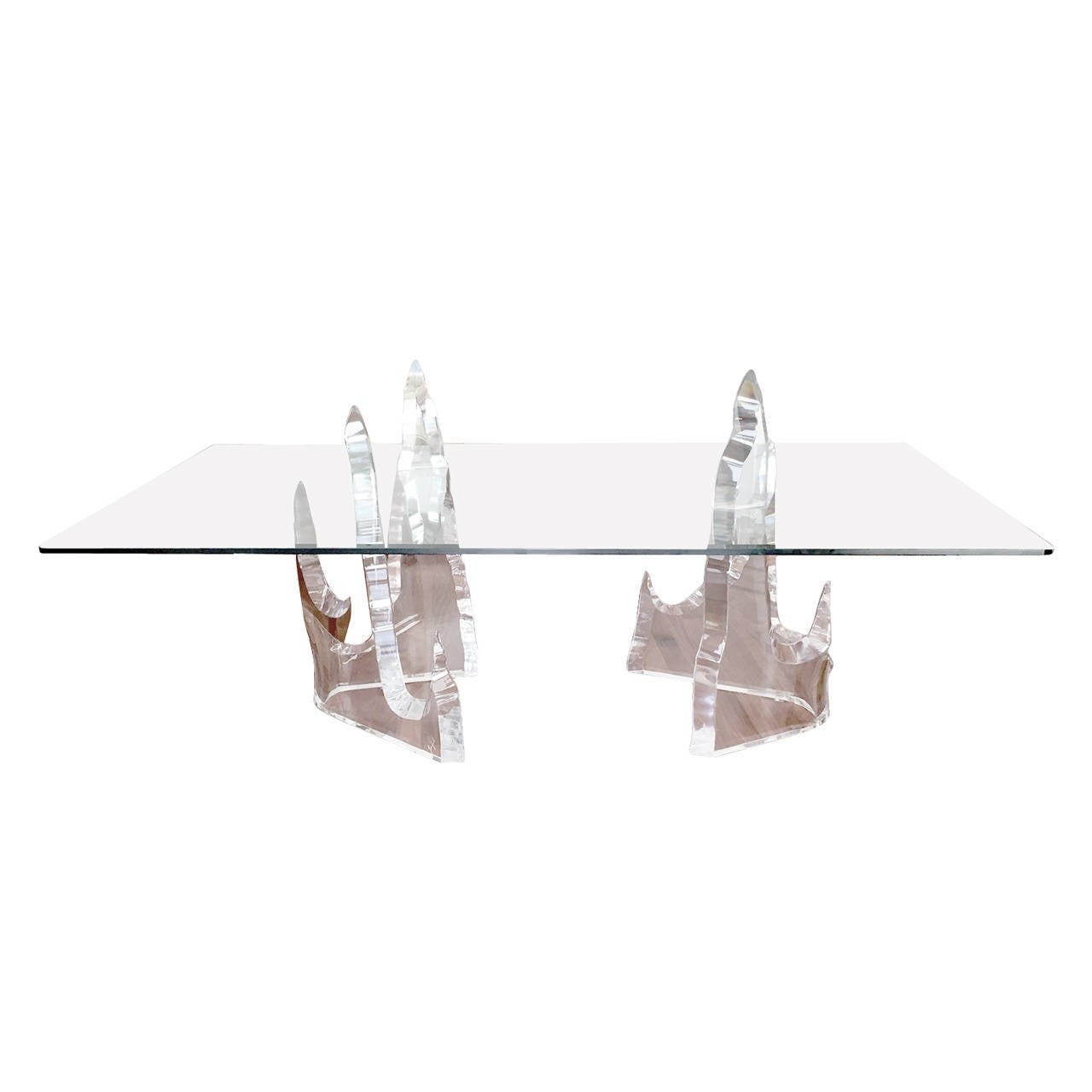 Rare Sculptural Iceberg Table By Lion In Frost For Sale