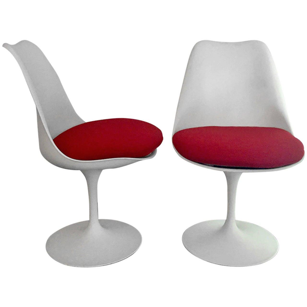 Pair Of Vintage Tulip Chair By Eero Saarinen At 1stdibs