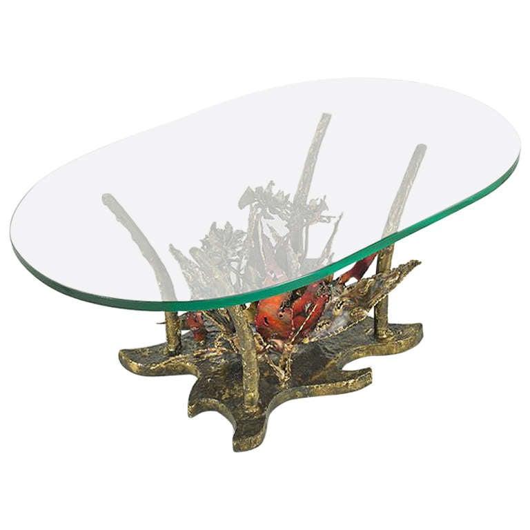 Studio Sculptural Bronze Coffee Table Sila Seandel