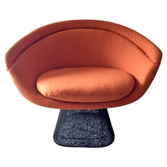 Bronze Frame Lounge Chair by Warren Platner for Knoll