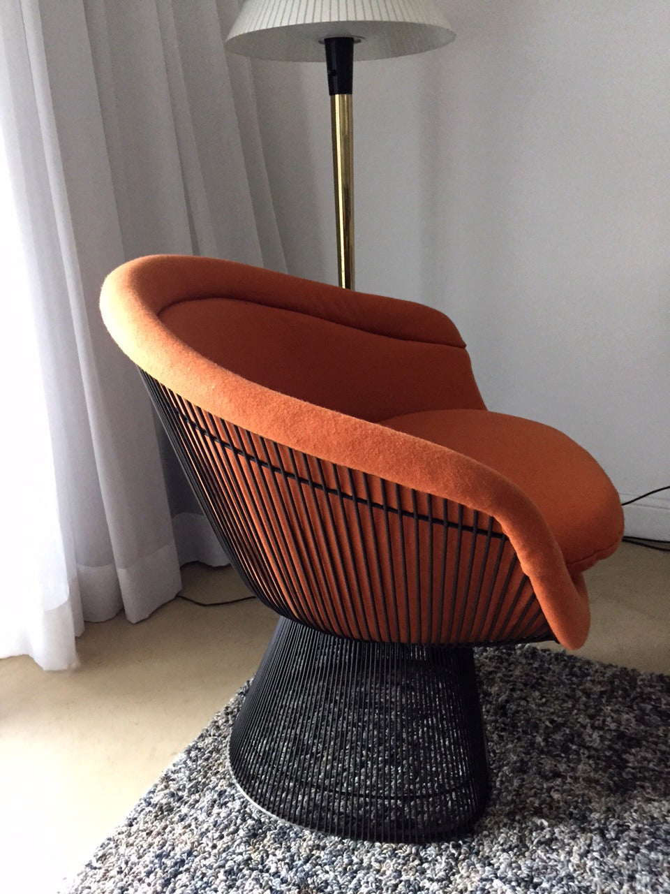 Bronze Frame Lounge Chair By Warren Platner For Knoll For