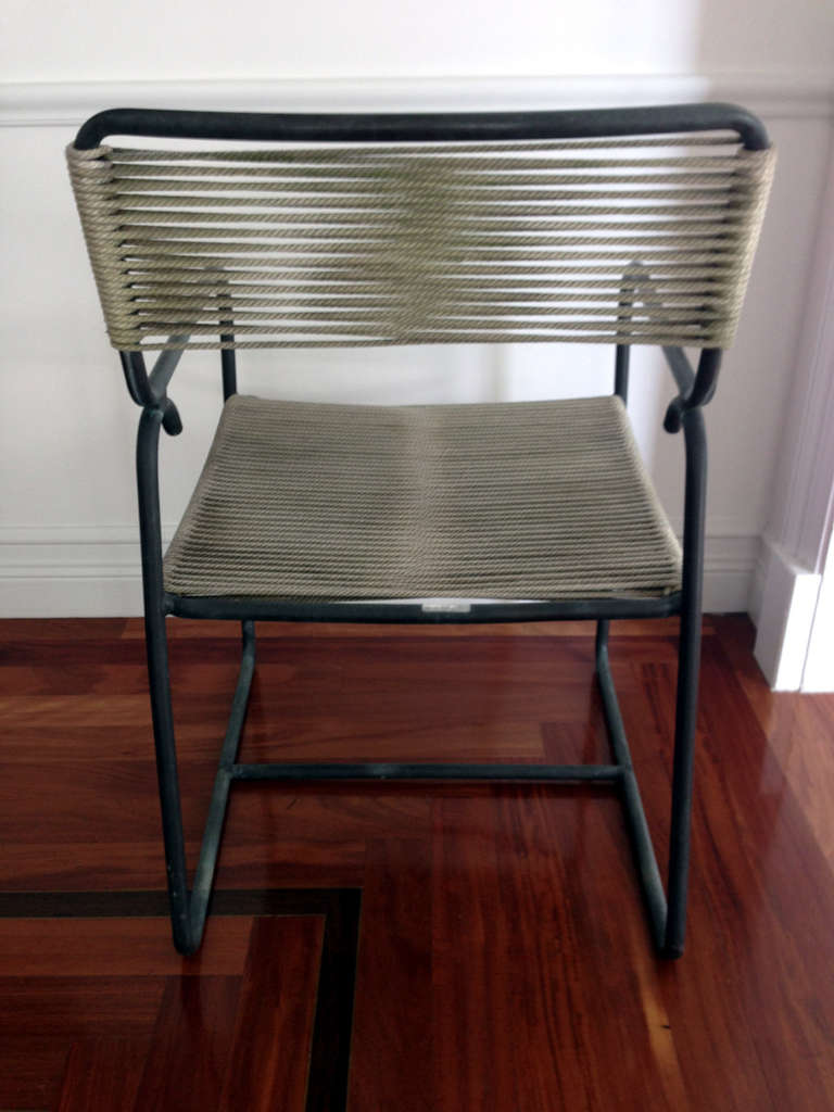 Bronze Table and Four Chairs Dining Set by Walter Lamb In Excellent Condition For Sale In North Miami, FL