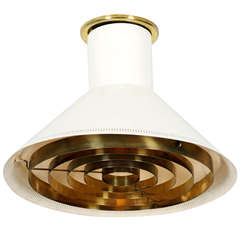 Finnish Ceiling Light Paavo Tynell for Taito
