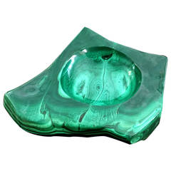 Natural Malachite Dish Bowl
