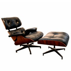 Rosewood Lounge Chair and Ottoman Charles Eames