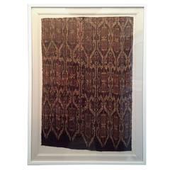 Framed Antique Asian Woven Ikat Textile T'nalak
