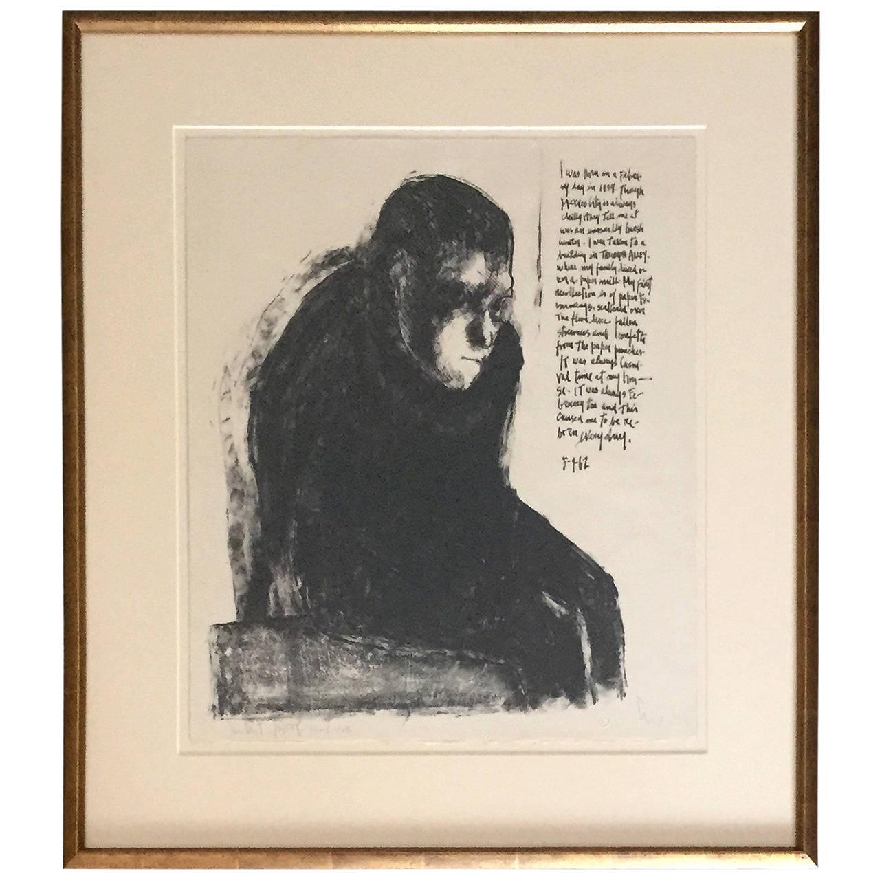 Framed Lithograph by Mexican Artist José Luis Cuevas