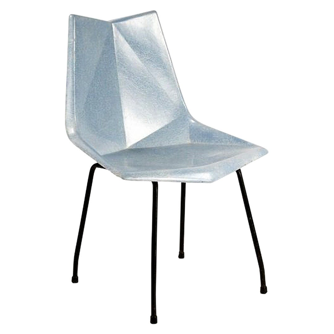 Fiberglass Origami Chair by Paul McCobb