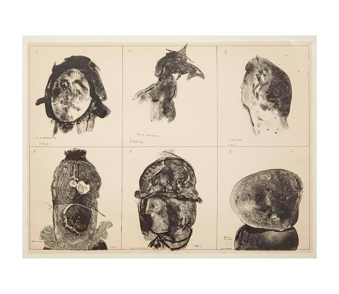 Artist: Jose Luis Cuevas Title: The tortured ones Medium: Lithograph Edition: 11/20 Date:1965 Sheet size: 22 1/4 x 30 inches  Signed, dated and numbered 11/20 in pencil.